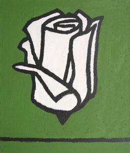 """Dietmar Brehm    """"Stillleben 2001"""" (Rose) Öl auf Leinwand 60x70cm"""