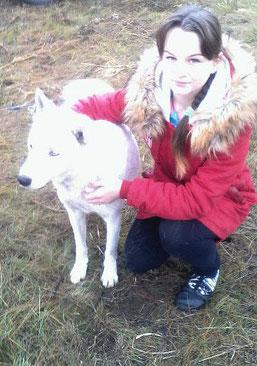 Лера и пёс Хрюша
