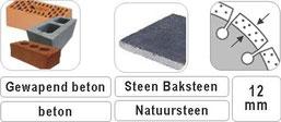 turbo cr zaagbladen voor beton steen en natuursteen met een 12mm turbo segment