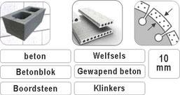slijpschijven voor de professionele aannemer voor het verwerken van betonproducten met een haakse slijper