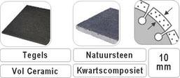 diamant tegelboor voor droog gebruik op een haakse slijper diameter 115mm of 125mm