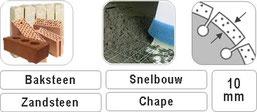 verzagen van abrasieve materialen met een diamant slijpschijf