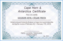 Kasimir, Cäsar, Fredi und Kerl sind zertifizierte Kap Hoorn und Antarktis - Reisende