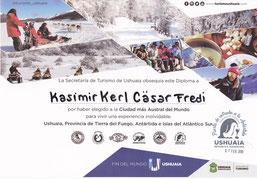 Kasimir, Cäsar, Fredi und Kerl haben das Ushuaia-Diplom!
