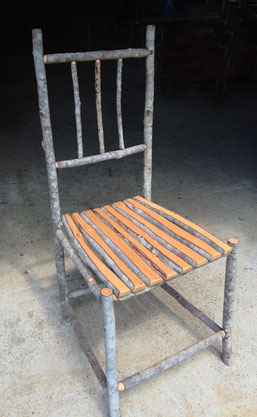 Soap tree chair, soap tree slats seat, natural wax finish,  100cm high x 45cm wide x 48cm deep. SOLD