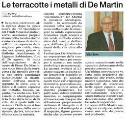 Il Quotidiano di Udine del 6 settembre 2011