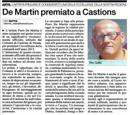 Il Quotidiano di Udine del 5 novembre 2013