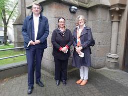 Vorstand: Christian Britz (Kassierer), Patricia Knoth-Kampmann (2. Vorsitzende), Gabriele-Sophie Adeneuer (1. Vorsitzende)