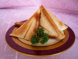 海老マヨキムチのオーブンサンド