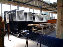 Herstellung von Aluminium-Fensterelementen