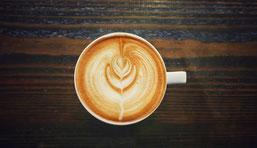 Cappuccino von oben