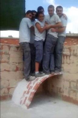 Carga casera de un arco de escalera