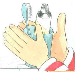Dantų valymo seka