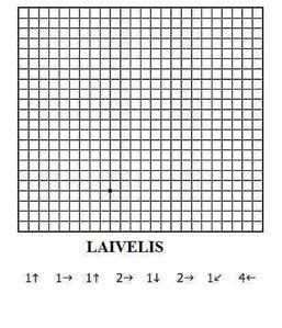 Orientuojamės, skaičiuojame, piešiame pagal langelius