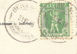 """Stempel vom 31.7.1908 """"Berninahaus"""" (241-011)"""