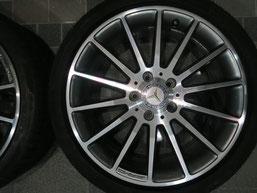 ベンツA180の純正シルバーダイヤモンド(ダイヤモンドカット仕上げ)ホイールのガリ傷・擦りキズ・欠けの、リペア(修理・修復):再ダイヤモンドカット加工後の写真4