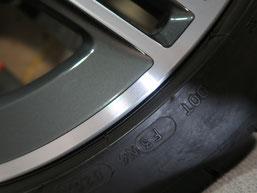 ベンツCLA45S AMGの純正ダイヤモンドカット仕上げホイールのガリ傷・すりキズの修理・修復後のホイール写真6