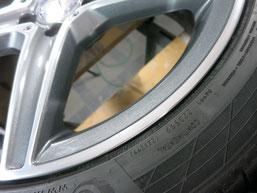 メルセデス・ベンツC200AMGの純正アルミホイールのガリキズ・すり傷 のリペア(修理・修復)後のホイールcの写真31