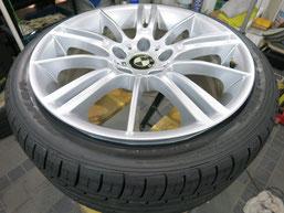 BMW335iの純正アルミホイールのガリキズ・すり傷のリペア(修理・修復)後のホイールBの写真