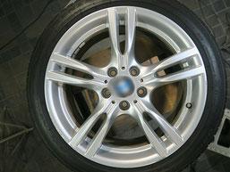 BMW320d 純正アルミホイールの、ガリ傷・擦りキズのリペア(修理・修復)前のホイール写真2