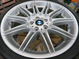 BMW335iカブリオレ純正アルミホイールのガリ傷・擦りキズのリペア(修理・修復)後のホイール写真