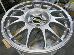 BBSアルミホイールのガリ傷・すりキズのリペア(修理・修復)および、カラーチェンジ(色替え)後のホイールAの写真