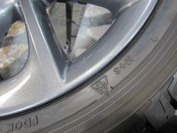 レクサスCT200h・Fスポーツの純正アルミホイールの ガリキズ・擦り傷のリペア(修理・修復・再生)後のホイールBのアップ写真その1