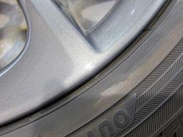 レクサスCT200h・Fスポーツの純正アルミホイールの ガリキズ・擦り傷のリペア(修理・修復・再生)後のホイールAのアップ写真その2