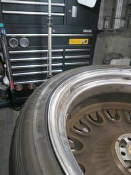 アルミホイールの曲がり・歪みの 修理・修復・修正・復元後の写真3