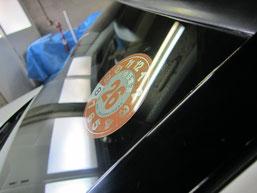 ベンツC200コンプレッサーのフロントガラスの鱗状痕(水垢、ウロコ染み、ウォータースポット)の除去後その3