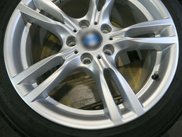 BMW320d 純正アルミホイールの、ガリ傷・擦りキズのリペア(修理・修復)後のホイール写真3