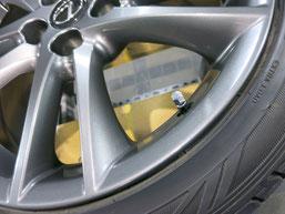 レクサスIS Fスポーツの純正アルミホイールの、ガリ傷・すりキズのリペア(修理・修復)後の傷アップ写真
