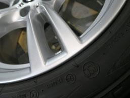 BMW320iツーリング・Mスポーツの純正アルミホイールの、ガリ傷・擦りキズのリペア(修理・修復)後の傷2アップ写真