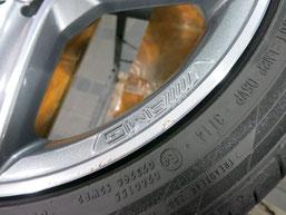 メルセデス・ベンツC200AMGの純正アルミホイールのガリキズ・すり傷 のリペア(修理・修復)前のホイールcの写真2