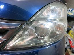 トヨタ・アイシスのヘッドライトの曇り・黄ばみ・劣化の除去(修理・修復)、左側修理後41