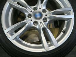 BMW320d 純正アルミホイールの、ガリ傷・擦りキズのリペア(修理・修復)前のホイール写真3