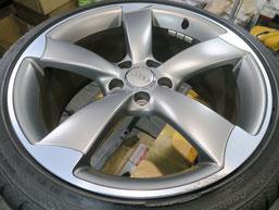 アウディS4(TT・RS) 純正アルミホイールのガリキズ・すり傷のリペア(修理・修復)前のホイール写真