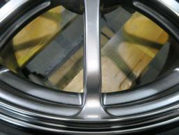 アルファロメオ・ミト(MITO)のアルミホイール(アドバンスポーツ)のガリキズ・すり傷のリペア(修理・修復)後のホイール傷アップ写真3