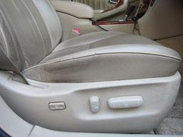 レザーシート及び樹脂パーツ部クリーニング(汚れ除去)前写真