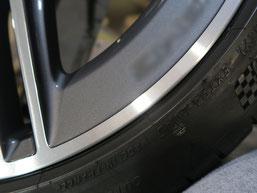 ベンツCLA45S AMGの純正ダイヤモンドカット仕上げホイールのガリ傷・すりキズの修理・修復後のホイール写真5