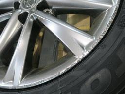 レクサスRXの純正アルミホイールの、ガリキズ・擦り傷のリペア(修理・修復)前のキズアップ写真