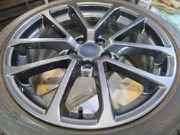 スバル WRX.S4の純正アルミホイールのガリ傷・擦りキズのリペア(修理・修復)後のホイール写真1