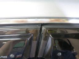 ベンツE350窓モール(ステンレスモール)の染み・曇り・白濁(水ジミ・水垢・鱗状痕・腐食)の除去・修理・磨き及びコーティング後の写真3