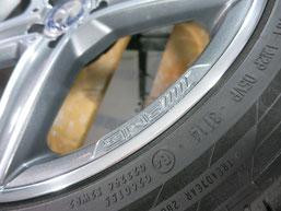 メルセデス・ベンツC200AMGの純正アルミホイールのガリキズ・すり傷 のリペア(修理・修復)後のホイールcの写真2