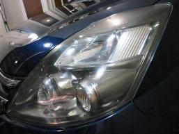 トヨタ・アイシスのヘッドライトの曇り・黄ばみ・劣化の除去(修理・修復)、左側修理後3