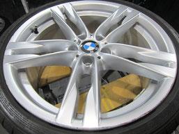 BMW640iクーペ・カブリオレの20インチ純正アルミホイールの、ガリキズ・擦り傷・欠けのリペア(修理・修復・再生)前のホイールアップ写真⑥