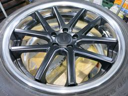 シボレー カマロLT RSのアルミホイールのガリ傷・擦りキズのリペア(修理・修復)後のホイール全景写真