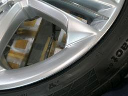 アウディS8 純正21インチアルミホイールのガリ傷・擦りキズ・欠けのリペア(修理・修復)後のアップ写真