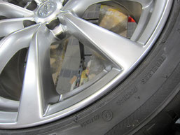 スカイラインクーペ タイプS の19インチ純正ハイパーシルバーアルミホイールのガリキズ・擦り傷・欠けのリペア(修理・修復・再生)後アップ写真①