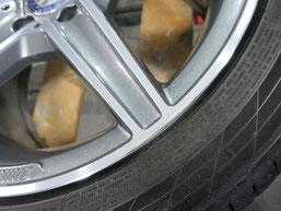 メルセデス・ベンツC200AMGの純正アルミホイールのガリキズ・すり傷 のリペア(修理・修復)後のホイールBの写真2